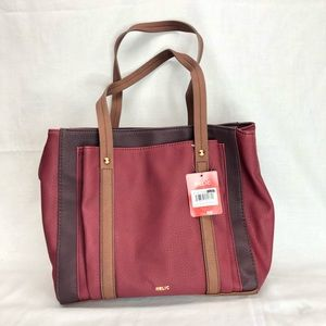 Relic Bailey Double Shoulder Bag Red/Brown NWT